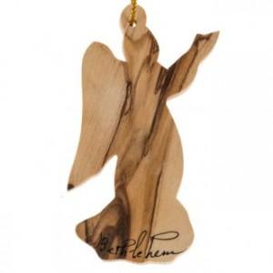 adorno rbol madera olivo bethlehem ngel