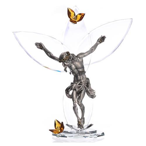 crucifijo con cristales ambar
