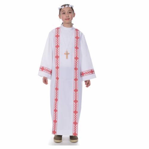 vestido con bordes para primera comunion