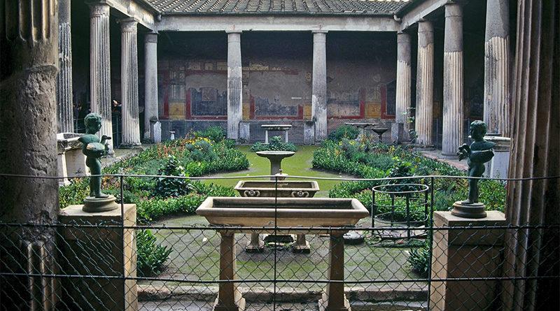 Antiguo jardín de roma